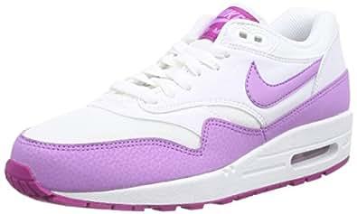 Nike Wmns Air Max 1 Essential, sneaker femme, Blanc (Blanc/Violet), 36.5 EU