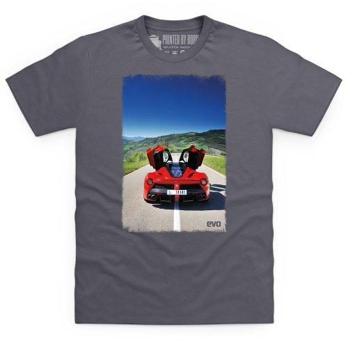 evo LeFerrari Photo Print T-Shirt, Herren Anthrazit