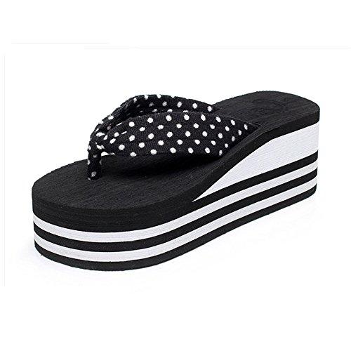 Womens Ladies  Sandals Talons hauts d'été Chaussons de femme Chaussures de plage (36/37/38/39) Confortable ( Couleur : 1004 , taille : 38 ) 1002