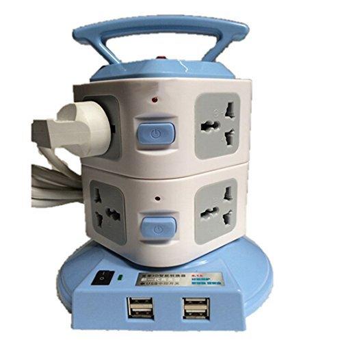 EASY 8 Plug Portable Socket with USB