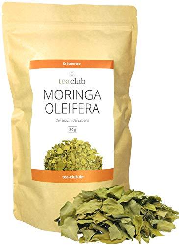 Moringa Tee 80g, Moringa Oleifera Blätter Großblättrig, Fein-Herber Kräutertee Lose - TeaClub