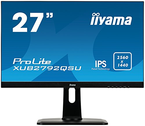 iiyama Prolite XUB2792QSU-B1 68,5cm (27 Zoll) IPS LED-Monitor QHD (DVI, HDMI, DisplayPort, USB3.0, Ultra-Slim-Line, FreeSync, Höhenverstellung, Pivot) schwarz (Desktop-monitor Ips)