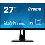 iiyama Prolite XUB2792QSU-B1 68,5cm (27 Zoll) IPS LED-Monitor QHD (DVI, HDMI, DisplayPort, USB3.0, Ultra-Slim-Line, FreeSync, Höhenverstellung, Pivot) schwarz