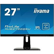"iiyama ProLite XUB2792QSU-B1 27"" Quad HD IPS Mate Negro LED display - Monitor (2560 x 1440 Pixeles, LED, Quad HD, IPS, Mate, 1000:1) (importado)"