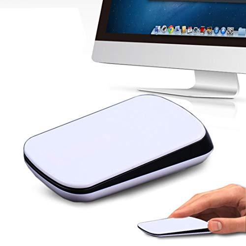 YUNCHAO Computer-Gadgets TM-825 2,4 GHz 1200 DPI Drahtlose optische Touch-Scroll-Maus for Mac Desktop-Laptop (weiß) -
