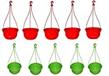 #3: Hanging pot set of 10 Multicolour- Srisai Naturals