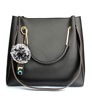 Mammon Women's Handbag (LR-bib-blk_Black)