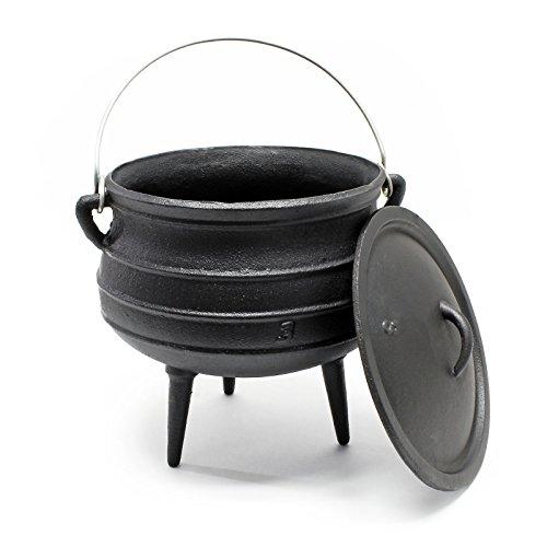Preisvergleich Produktbild Dutch Oven Potjie Gusseisen Kessel 8L Camping Outdoor Kochzubehör