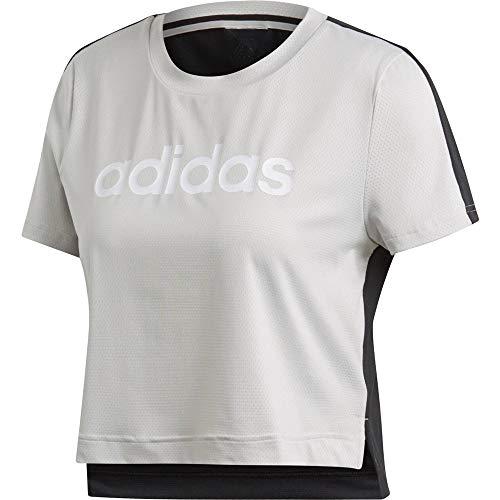 adidas Damen Linear Crop T-Shirt, Chapea, - T Bauchfrei Adidas Shirt