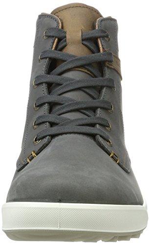 Lowa London Ii Gtx Qc, Sneaker a Collo Alto Uomo Grigio (Antracite/Beige)