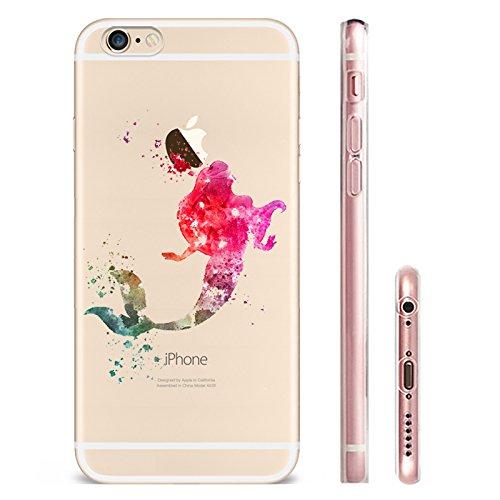 IPHONE SE 5 5S Hülle Meerjungfrau Ananas Liebe Muster TPU Silikon Schutzhülle Handyhülle Case - Klar Transparent Durchsichtig Clear Case für iPhone 5 /5S/SE MRY2