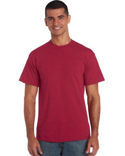 Gildan Heavy Cotton TM Adult T-Shirt L,Antique Kirsche rot (Heavy Shirt Knit)