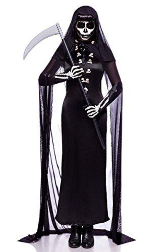 Kostüm Totengräber - Totengräberkostüm Totengräber Damen Kostüm Halloween Sensenmann Leiche 34-46