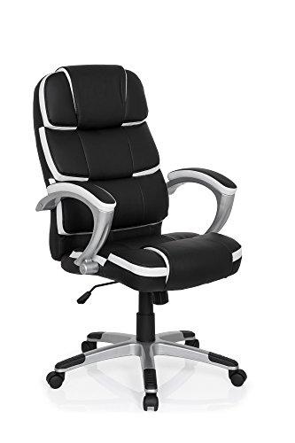 Mybuero sedia gaming pro by 100 ecopelle nero bianco for Sedie nere ecopelle