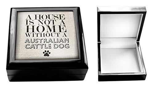 Una casa non è una casa senza un cane pastore australiano cani 9-Scatola porta gioielli
