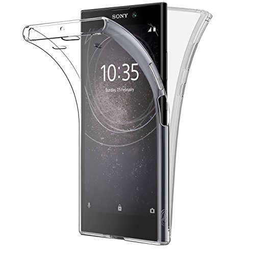 Buyus® Sony Xperia L2, Hülle Silikon Crystal Vorne und Hinten Schutzhülle 360° Full Body Cover TPU Ultra dünn Case