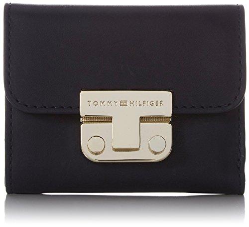 Tommy Hilfiger Damen Fashion Hardware Small Flap Wallet Geldbörse, Blau (Tommy Navy), 3.5x10x19 cm (Geldbörse Damen Tommy Hilfiger Kleine)