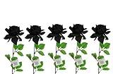 5er Set ROSE EDLE MEGA KUNSTROSE DUNKELROT Rose SAMT 74 cm BLÜTE 16 cm (ein Stück, schwarz)