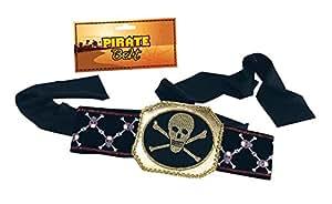 Black Skull and Crossbones Pirate Belt
