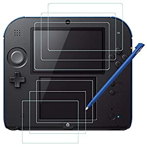 Schirm-Schutz und Schreibkopf für Nintendo 2DS, AFUNTA 3 Satz (6 PC) HD freier PET Film für Oberseite und unterer Schirm…