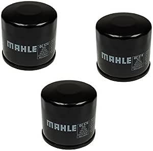 Ölfilter Set 3 Stück Mahle Oc574 Ean 4009026511855 Für Aprilia Arctic Cat Cagiva Kawasaki Kymco Sachs Suzuki Auto
