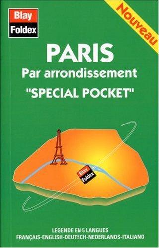 Plan de ville : Paris, par arrondissement (spécial pocket et avec un index)