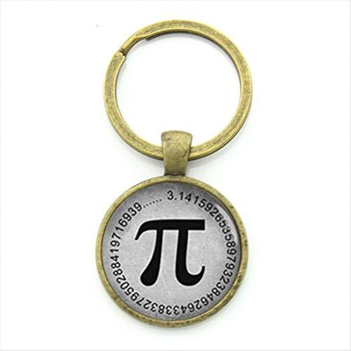 DCFVGB Weinlese-Männer Keychain Ring-Schmucksache-Klassisches Mathematisches Symbol Keychain Geschenk des Mathe-Lehrers -