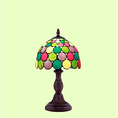Genuine kreativ Retro Resin Tiffany Tischlampe Wohnzimmer Schlafzimmer im mediterranen europ?ischen Kleine Nachttischlampe Glaslampe