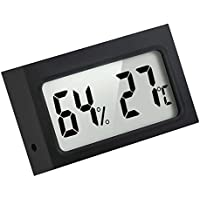 Mini Indoor Digital Temperature Humidity Monitor Thermometer Hygrometer, Black