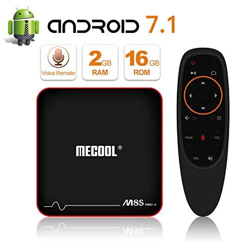 2018Neueste Modell mecool M8S Pro Android 7.1.2TV Box mit Innovative Sprachsteuerung Fernbedienung, Best Android UI, 2GB RAM 16GB ROM und HD 4K Internet Media Player