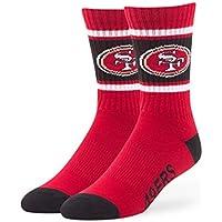 "San Francisco 49ers NFL 47 Brand ""Duster"" Colorblocked Men's Crew Length Socks"