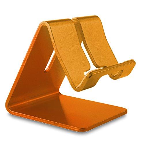 REYTID Premium-solide Aluminium-Legierung-Halter für iPhone, Samsung, HTC, Sony, LG, Huawei und mehr! Smartphone-Stand Desktop-Mount Schlafzimmer Mobile tragbare Aufnahmeschale - Holder Desk Laptop Cup