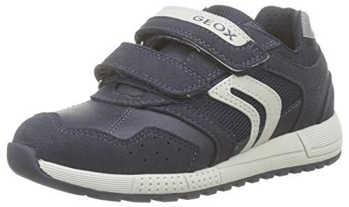 Geox J ALBEN Boy C, Zapatillas para Niños, Azul Navy/Grey C0661, 38 EU