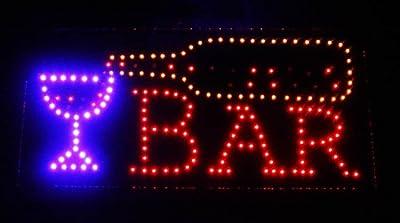 LED Schild BAR Werbeschild Reklameschild mit LED Leuchte BAR 49 cm x 25 cm von HAAC - Lampenhans.de