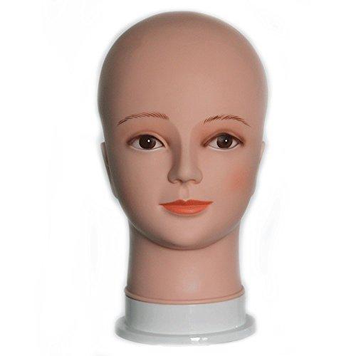(HAIREALM Mannequin Kopf Perücke Anzeigen Modell Kahl Männchen Puppen EGT01)