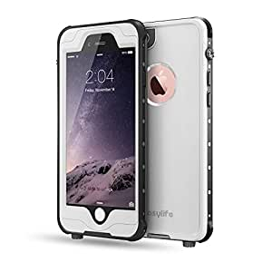 iPhone 6/6S Wasserdichtes Schutzhülle, Easylife IP68 Certified Extreme Durable Waterproof Shockproof Fully Sealed Case or Cover Perfectly Fit iPhone 6/6S (4.7inch) (White) …