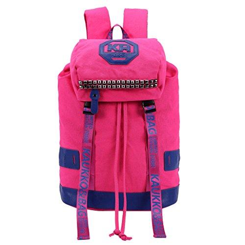 willtop Frauen Rucksack Gurt Schultasche Laptop Rucksack Einkauf Gym Schule Tasche ROSEPINK