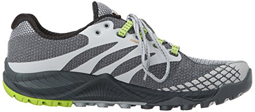Merrell All Out Charge, Scarpe da Corsa Uomo Multicolore (Grey/Lime Green)