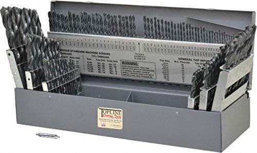 TopLine USA Bohrer-Set, 115 Teile, bruchsicher, schwarze Oberfläche
