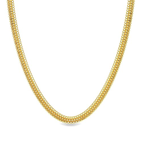 7ea4b17bd Candere By Kalyan Jewellers 22k (916) Yellow Gold Highway Chain Necklace  For Men