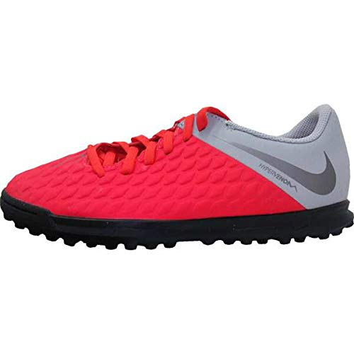 Nike Jr Hypervenom 3 Club Tf, Scarpe da Calcetto Indoor Unisex-Bambini, Multicolore (Lt Crimson/Mtlc Dark Wolf Grey 600), 37.5 EU