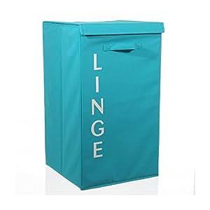 Panier à linge en tissu Lettres Bleu