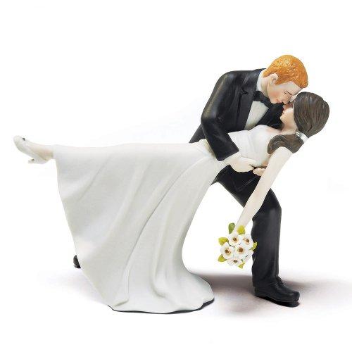 Weddingstar ein romantisches Dip Dancing Braut und Bräutigam Paar Figur für Kuchen (Kuchen-topper Blonde)