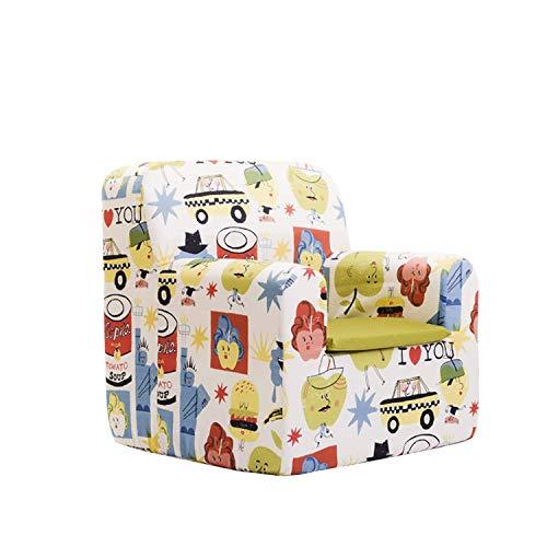 Sillon bebe sillita para recién nacidos desenfundable lavable resistente cómodo decoracion muebles niños Fabricado en España Varios Dibujos Estampados Tamaño único Edad 0 a 4 años (Big Apples)