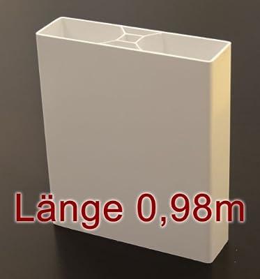 Bauer 114204, Bauer Kunststoff Zaun Lattenprofil Standard 0,98m in weiß von Bauer-Systemtechnik GmbH auf Du und dein Garten