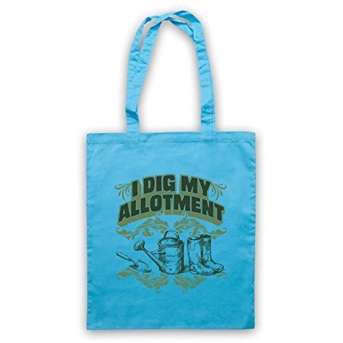 I Dig My Allotment Gardening Slogan Umhangetaschen Hellblau