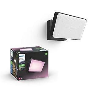Philips Hue White LED Welcome Flutlicht inkl. Sensor für den Aussenbereich, steuerbar via App, kompatibel mit Amazon…
