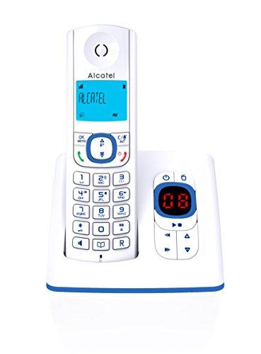 Alcatel F530 Schnurlostelefon mit Anrufbeantworter, Blau