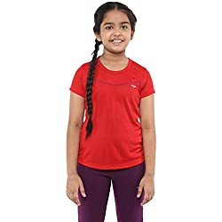 Berge Girls Instadry Round Neck Tee (1301_RED_10)
