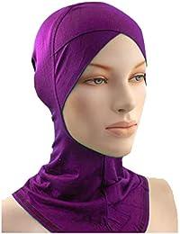Cwen Collection Hijab NINJA CRISS CROSS PURPLE Under Scarf Poly Cotton Scarf Women Islamic Wear Hair Cover Chemo